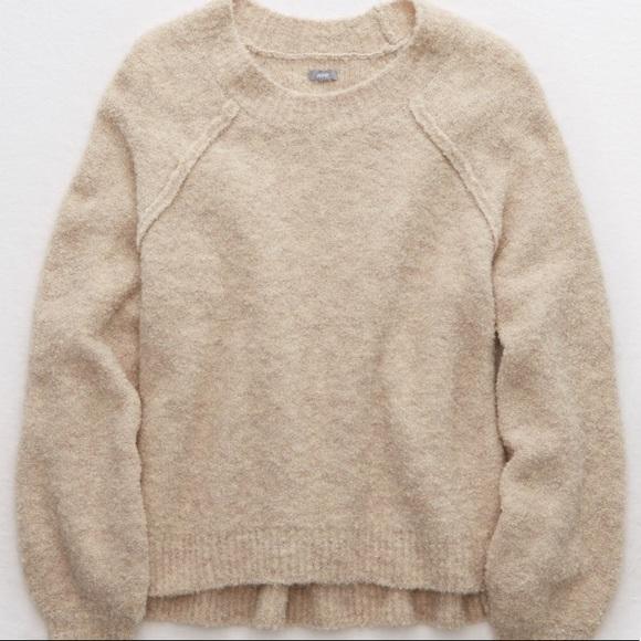 American eagle oatmeal sweater NWT